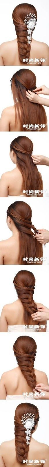Step by step tutorial for a gorgeous hairstyle!!!