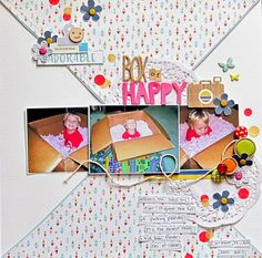 Christy Strickler-My Scrapbook Evolution- Box of Happy- tips for working with a difficult sketch