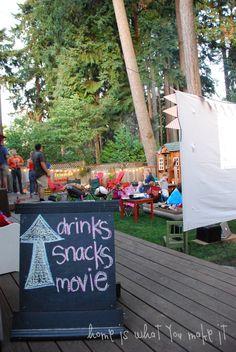 fall backyard movie night