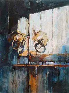 Favorite door Watercolor Architecture, Still Life, Paint Colors, Watercolor Paintings, Cool Art, Composition, David, Watercolor Painting, Pictures
