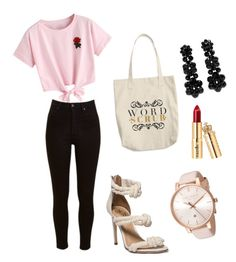 """Untitled #34"" by lejlasehic ❤ liked on Polyvore featuring WithChic, Lee, Simone Rocha and Ted Baker"