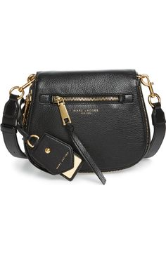 Main Image - MARC JACOBS Small Recruit Nomad Pebbled Leather Crossbody Bag