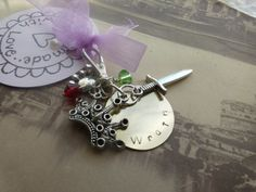 Black dagger brotherhood Wrath Keychain keyring hand by lauriebale, £4.00