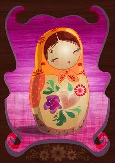 Matryoshka Nesting Doll Illustration www.matrioskas.es