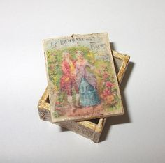 Dollhouse miniature vintage style box scale 1/12 by Teruka on Etsy