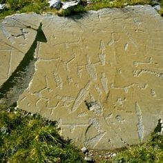 Roche gravée du Mont Bégo / Vallée des Merveilles. #archeologie #prehistoire