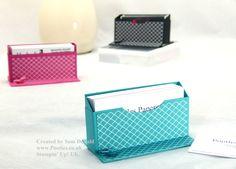 My lovely uplines business card holder design Pootles Stampin Up UK Business Card Holder tutorial (2)