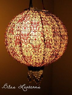 Regal Fabric Hanging Lantern Light Shade Fits ANY by BilasLanterns, $50.00