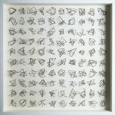 '100 Drawings' mixed media construction with twigs             Chris Kenny