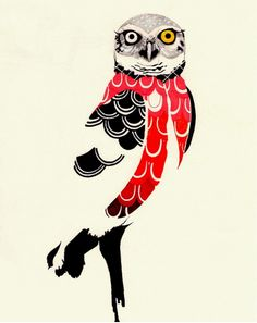 Owl. Illustration. By Aline Paes.
