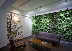 Beautiful green wall along with wall art for the lounge - Decoist