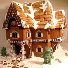 How to Build an Awesome Gingerbread House-This has an excellent link to a tutorial on the King Arthur's Flour site.