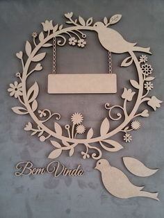 Gallina Fiesta variados tamaños de aro para Pared Arte Decoración de pared 6mm MDF Boda