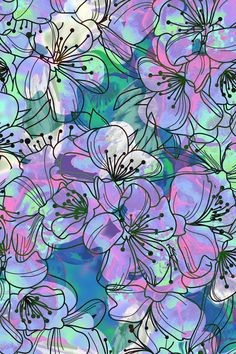 Iphone wallpapers · little purple flowers art print textile patterns, textile design, design patterns, print patterns Wallpaper Kawaii, Phone Wallpaper Images, Phone Screen Wallpaper, Live Wallpaper Iphone, Cool Wallpapers For Phones, Aesthetic Iphone Wallpaper, Cute Wallpapers, Iphone Wallpapers, Cute Wallpaper Backgrounds