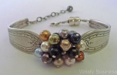 I just love the bracelets and other jewelry made from vintage silverware.