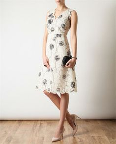 Browns fashion & designer clothes & clothing | VALENTINO | Floral Lace Dress