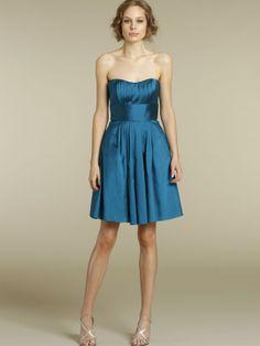 bella bridesmaid silky taffeta a-line short dress strapless scoop pleated natural waist o200