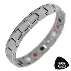 Titanium Bracelet with Multi-Color Therapeutic Magnets