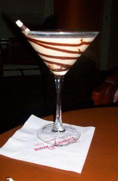 Godiva Chocolate Martini: Godiva chocolate liqueur, Frangelico, Stoli vanilla, chocolate hazelnut rim