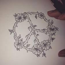 Résultats de recherche d'images pour «peace sign with vines tattoo»