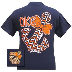 Girlie Girl Originals OKC Oklahoma City Thunder Chevron Anchor Bow Bright T Shirt