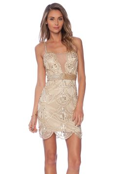 Raga Embellished Mini Dress in Gold | REVOLVE