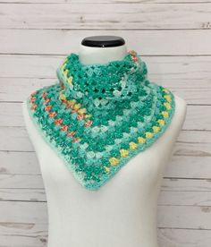 A personal favorite from my Etsy shop https://www.etsy.com/listing/546798123/springtime-bandana-scarf-crochet-scarf