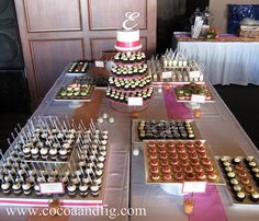 cocoa & fig: Pink & Orange Miniature Dessert Buffet