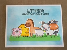 My Favorite Things The Whole Herd stamp set.