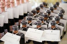 Booze | 42 Wedding Favors Your Guests Will Actually Want  Great idea!