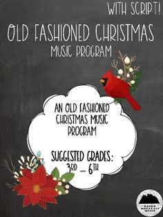 Old Fashioned Christmas is the perfect winter music program for the music teacher on the go! With everything you need to put on the concert of the year, this program is ideal for schools on limited budgets.Save time and stress by purchasing this set for