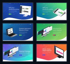 40 Website Presentation Headers PSD Template Website Slider, Website Header Design, Online Presentation, Create Your Own Website, Grid System, Vector Shapes, Ui Kit, Free Website, Creative Words