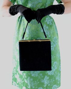 New! A Mad Men Inspired Handbag Sale 1950s Purse Black Mad Men Fashion Office by gogovintage, $42.00