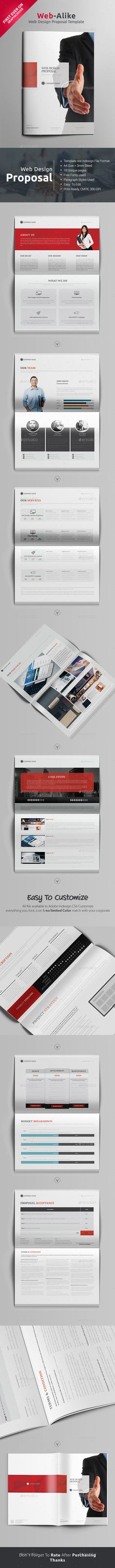 Web Design Proposal 18 Pages Template #design Download: http://graphicriver.net/item/web-design-proposal/13078487?ref=ksioks