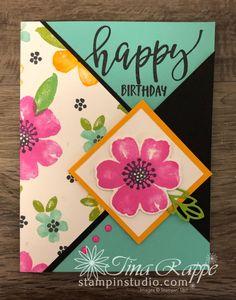 Pretty Perennials One Sheet Wonder Cards - Stampin' Studio Birthday Cards, Happy Birthday, One Sheet Wonder, Stampin Up Cards, Perennials, About Me Blog, Catalog, Create, Sisters