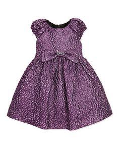 Metallic Textured Dress, Pink, Sizes 2-10 by David Charles at Bergdorf Goodman.