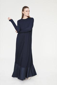 Poplin Detaylı Örme Elbise | www.toucheprive.com