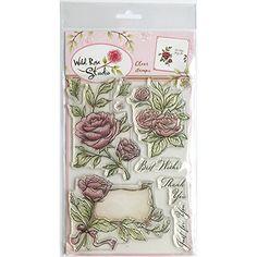Wild Rose Studio New A5 Stamp - Antique Roses