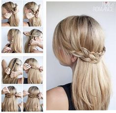 Step by Step -- Braided half Up-Do