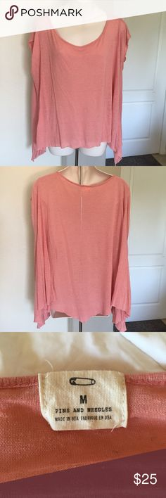 Pins and Needles bohemian oversized draped top M This is a Pins and Needles from urban outfitters bohemian top. Size medium. Oversized flowy pink fabric made of 70% rayon 30% linen. Hangs perfectly. Mint condition. Urban Outfitters Tops Blouses