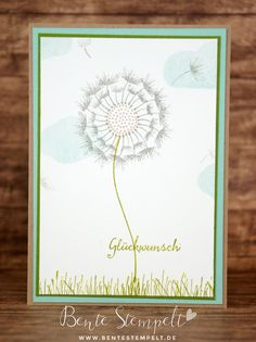 Did you know there's a beautiful dandelion hiding in Stampin' Up!s balloon celebration stamp set? es versteckt sich tatsächlich eine Pusteblume in dem Stempelset Partyballons