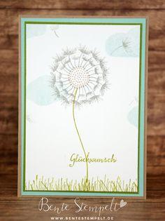 Did you know there's a beautiful dandelion hiding in Stampin' Up!s balloon celebration stamp set? es versteckt sich tatsächlich eine Pusteblume in dem Stempelset Partyballons