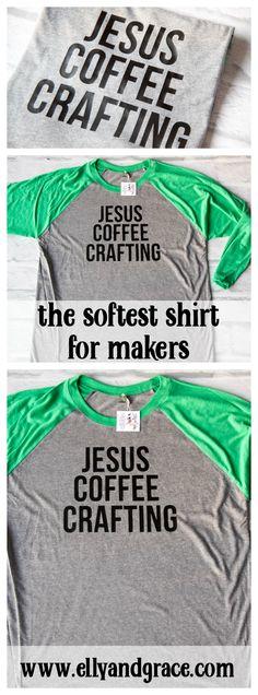 53fa2af31563 Jesus Coffee Crafting Baseball Shirt