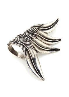 BOHO & BOURBON Feather Ring