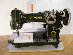 Bernina 117 sewing machine, circa. 1938.