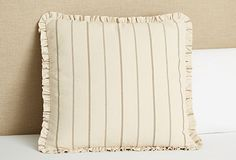Neutral Stripe Euro Sham, Natural on OneKingsLane.com