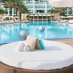 Poolside reservation at Fontainebleau
