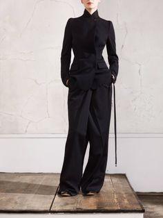 Narrow Shoulder Jacket, $99; Oversized Trousers, $129; and Faceless Watch Bracelet, $50.  Photo courtesy of H&M.