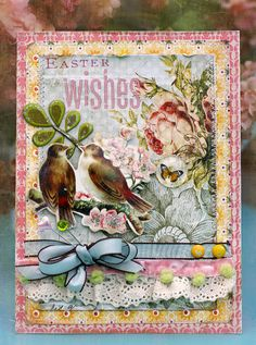 Card so pretty it should sit out all spring! #GlueArts Glue Glider PRO+ from Designer @Linda Albrecht