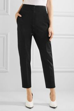 Jil Sander - Stretch-cotton Gabardine Slim-leg Pants - Black - FR40